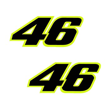 Amazoncom Pcs Reflective Fluorescent Yellow VALENTINO ROSSI - Vinyl stickers for bikes