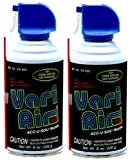 Twin 8 oz. Vari-Air Air Duster (Canned Air) from Peca Products VA-403A