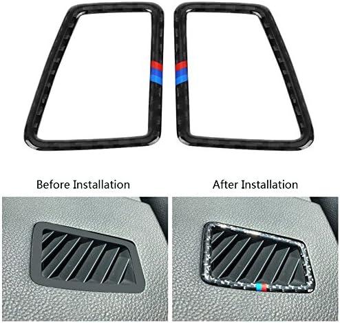 Suuonee B Pillar Trim Carbon Fiber Car Window B-pillars Trim Cover Decorative Sticker for BMW 3 Series E90 2005-2012