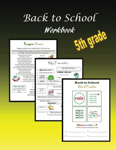 Back to School Workbook:  5th grade