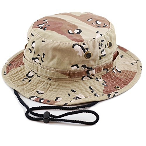 THE HAT DEPOT Unisex Summer Outdoor Packable Camouflage Bucket Hat (L/XL, Desert (Boonie Hat Camouflage Hat)