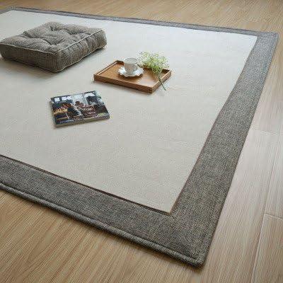 GRENSS Caliente Estilo japonés cáñamo algodón Alfombra Esterilla de Yoga Casa Habitación Piso Alfombra Grande,B,160cm 200cm: Amazon.es: Hogar
