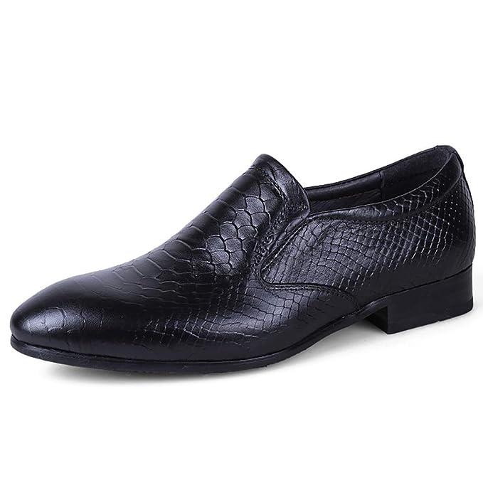 FHTD Zapatos De Cuero Para Hombres Mocasines De Primavera Mocasines Zapatos De Cordones Zapatos Con Cordones: Amazon.es: Ropa y accesorios