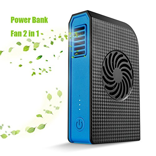 Purses Outlet (Power Bank Cooling Fan, Joysoul Portable Bladeless 3 speed Travel Fan Pocket Fan Desk Box Fan, 6000mAh Power Bank Rechargeable Fan for Home Office Travel Daily Use (Black))
