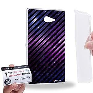 Case88 [Sony Xperia M2] Gel TPU Carcasa/Funda & Tarjeta de garantía - Art Fashion Galaxy Nebula Stripes Mix 0785
