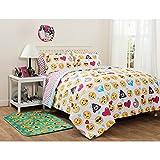 Emoji Pals Bed in a Bag Bedding Set Trendy, Soft, Adorable Emoji Pals Bed-in-a-Bag Bedding Set, FULL