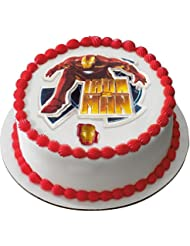 DecoPac, Iron Man 2, Cake Decorating Kit, Includes Topper and Ring.