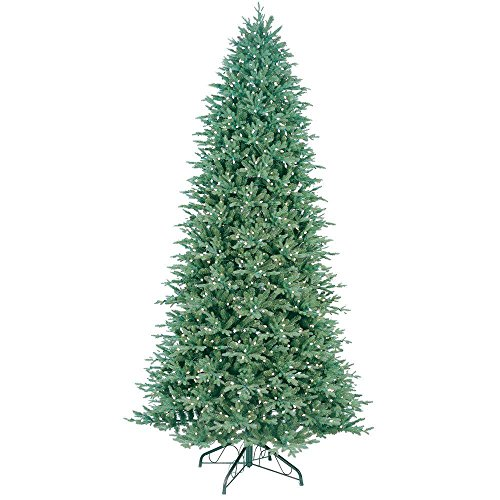 Aspen Fir Artificial Christmas Tree - GE 10.5 ft. Indoor Pre-Lit LED Just Cut Deluxe Aspen Fir Artificial Christmas Tree with Color Choice Lights