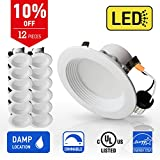 OSTWIN 4-inch LED Downlight RETROFIT KIT Recessed Lighting Fixture, 10.5W (60W Equivalent), Dimmable, 3000K (Warm White), 700 Lumens, (12 Pack), UL and Energy Star Listed