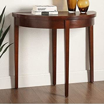 Briarwood Home Decor Dark Walnut Wooden Folding Console Table