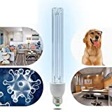 LED 220V UV Ozone Sterilization Lamp Anti-Bacterial Rate 99% Ultraviolet Disinfection Germicidal Lights For Car Household Refrigerator Toilet Pet Area 15W