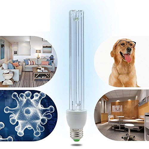 Light Wand Uvc (LED 220V UV Ozone Sterilization Lamp Anti-Bacterial Rate 99% Ultraviolet Disinfection Germicidal Lights For Car Household Refrigerator Toilet Pet Area 15W)