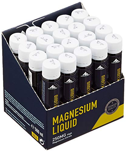 Multipower Supplements Magnesium Liquid im 20er Pack (20 Ampullen / insg. 500 ml) – Hochkonzentriertes Magnesiumcitrat…
