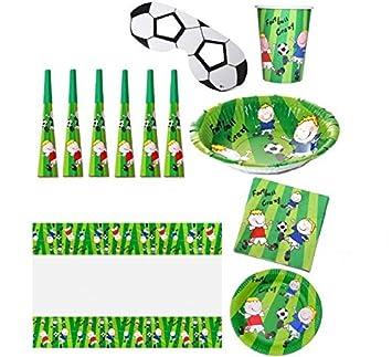 EUROCARNAVALES Picnic Fútbol: Mantel, 6 servilletas, 6 ...