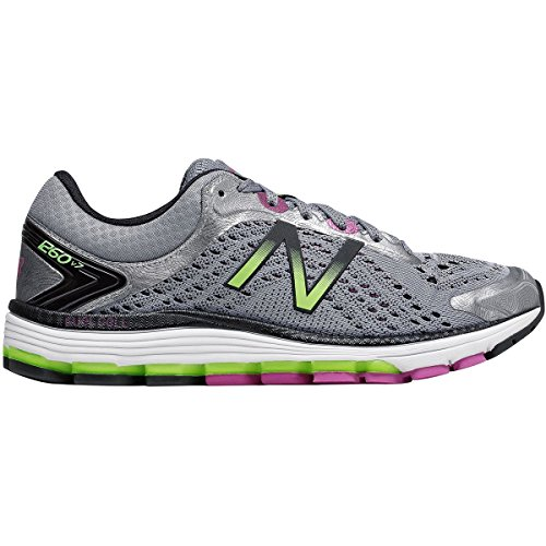 New Balance Women's 1260V7 Running Shoe, Dark Grey/Purple, 9.5 B US (Best New Balance Stability Running Shoes)