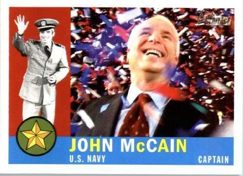 2009 Topps American Heritage Heroes Trading Card #3 John McCain Military Heroes - Baseball Card (Topps Cards Trading Heroes)