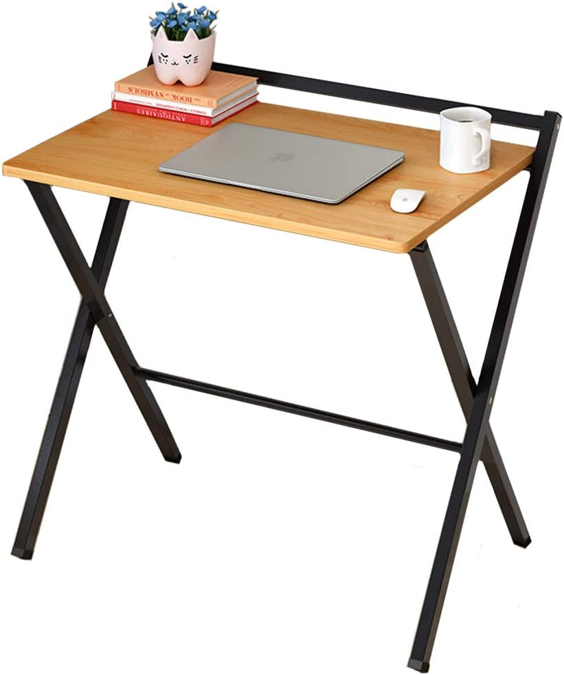 Desk Foldable Office Table for Small Spaces, Computer Desk Shelf Writing Desk for Study Home Pc Laptop Easy to Store-b1 62x50x75cm