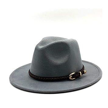 JDDRCASE Sombreros de Moda Gorras, Gorra Fedora Hombres y Mujeres de Fieltro de Lana,