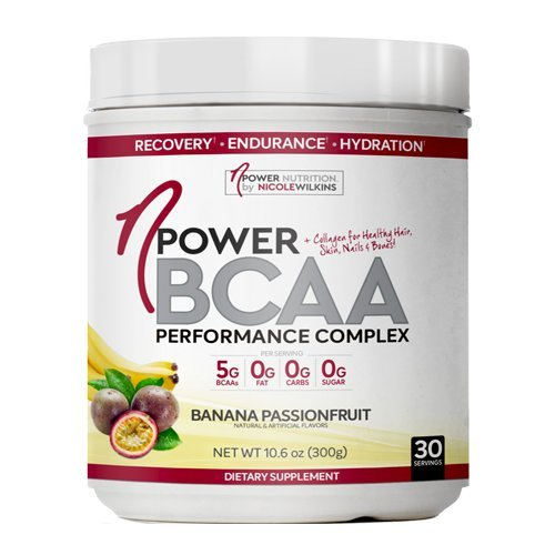nPower Nutrition BCAA All Natural BCAA, Collagen, Electrolyte Powder 30 Servings Banana Passionfruit