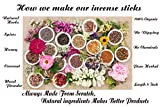 RAAJSEE JAPANESE ROSE INCENSE STICKS 100 Gm The Incense Sticks which we make are completely handmade are made fresh in traditional Indian method and takes around a week to complete. We NEVER take the short root to produce them in large numbers in ver...