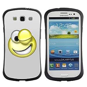 Be-Star Impreso Colorido Diseño Antichoque Caso Del iFace Primera Clase Tpu Carcasa Funda Case Cubierta Par SAMSUNG Galaxy S3 III / i9300 / i747 ( 3D Funny Smiley )