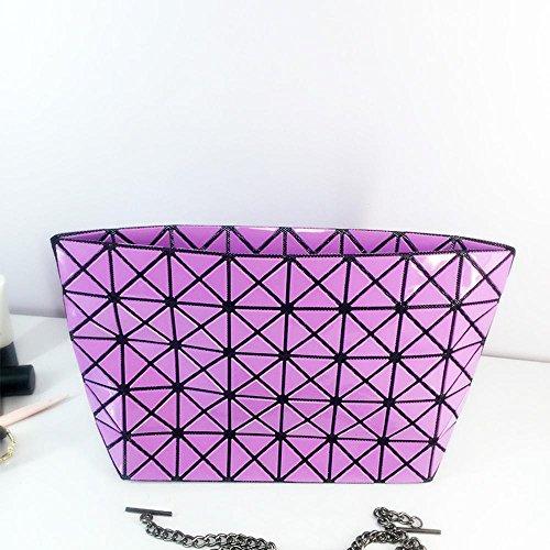 Aoligei Sac de chaîne femmes pièce de triangle de bundle des losange couture pack croix oblique simple sac à bandoulière C