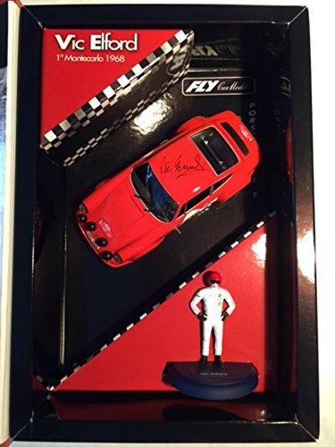(Fly Slot Car 1/32nd Scale Porsche 911T w/ Vic Elford Figure Box Porsche 911T Monte Carlo Rally 1968 -