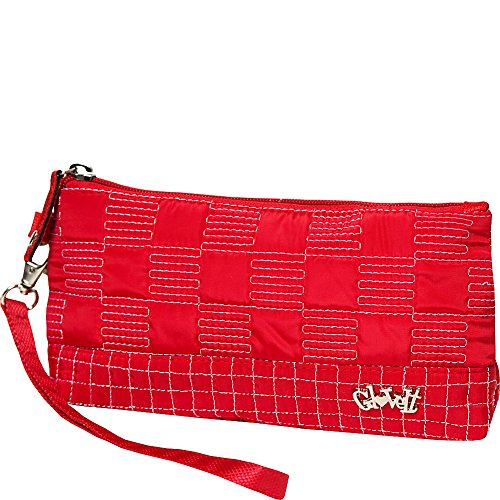 GloveIt Women's Wristlet Wallet - Zipper Wristlets for Women - Ladies Wristlet Purse - Removable Strap for Keychain - Make Up, Cell Phone, Smartphone, Travel, Credit Cards - 2018 Lady in Red