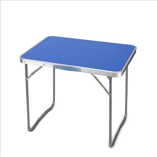 ACZZ Mesa plegable Ren S 80 cm Aluminio Azul Mesa portátil ...