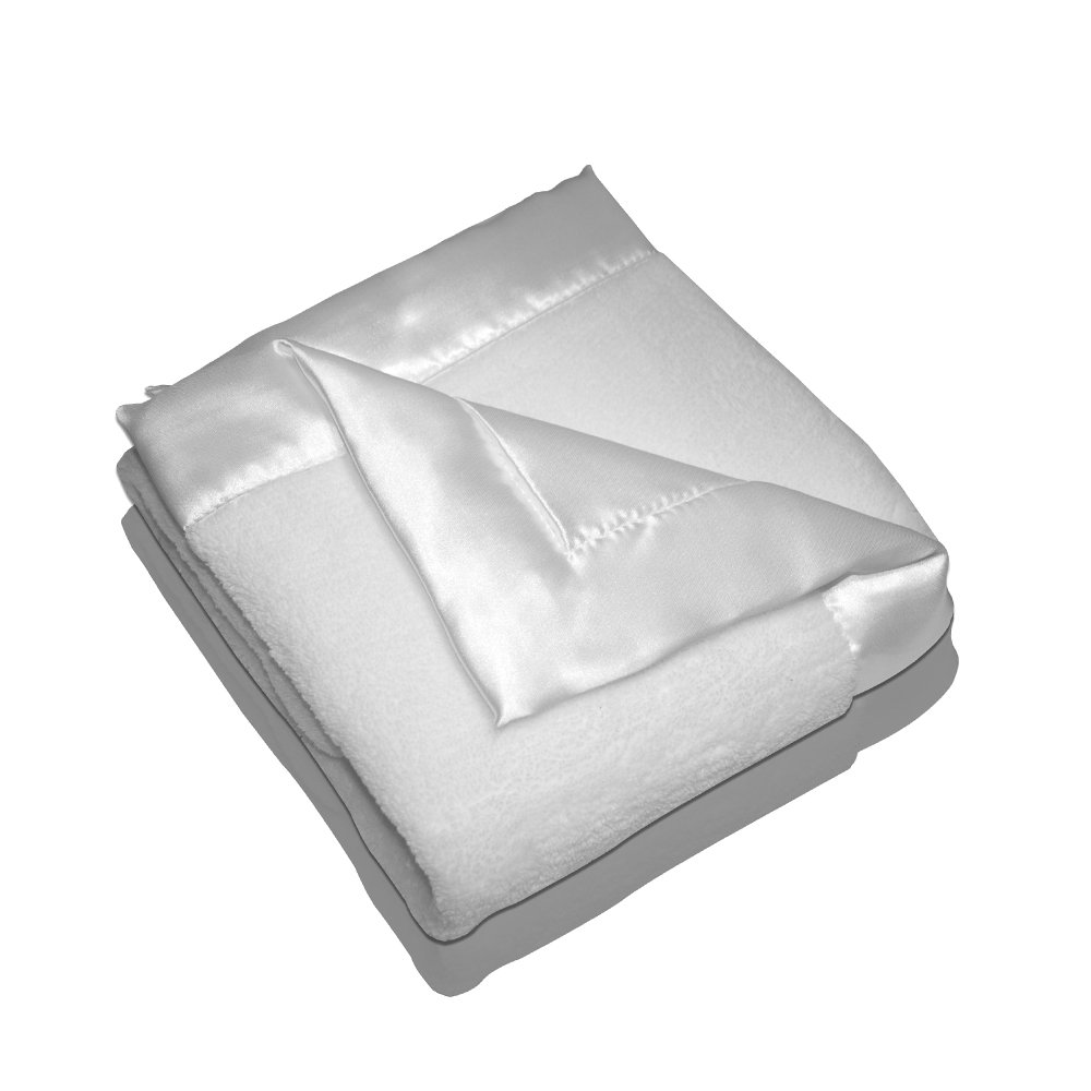 Elegant Baby Plush Microfiber Blankie - White