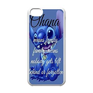 DIY case Cute Ohana means family PC material phone protective cover For Iphone 5c XFZ390745