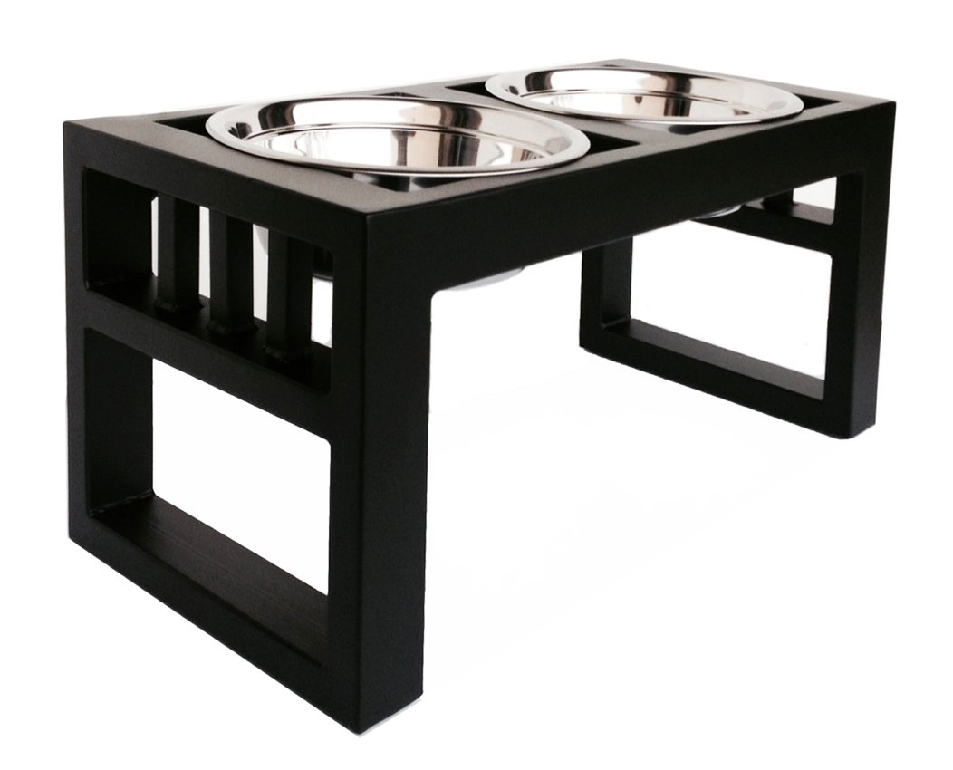 NMN Products Libro Double Diner - Raised Dog Feeder - 11'' Tall