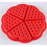 SHINA Waffles Cake Chocolate Pancake Silicone Mold Baking Mould Baking DIY Heart-shaped