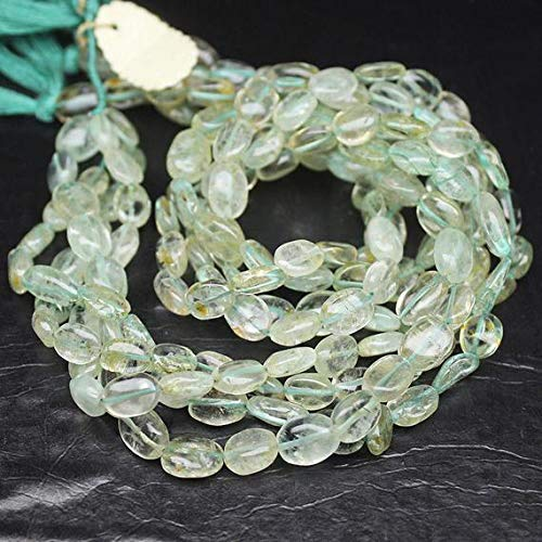 4 Strand Natural Aquamarine Smooth Oval Gemstone Loose Craft Beads 14