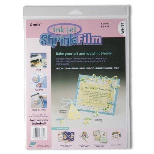 Grafix Inkjet (Grafix Shrink Film 8 1/2 x 11 in. Ink Jet White 6 pc.)