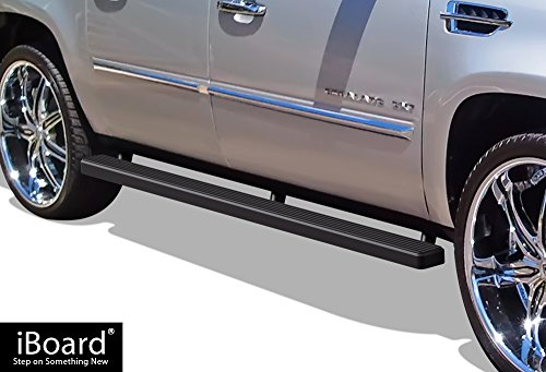 - APS iBoard (Black Powder Coated 4 Inches) Running Boards | Nerf Bars | Side Steps | Step Rails For 2002-2013 Cadillac Escalade ESV EXT Sport Utility 4-Door