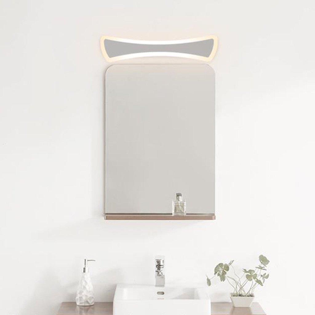 & Spiegellampen Spiegel Schrank Lichter, moderne Toilettenleuchten LED Spiegel Frontlicht Bad Anti-Nebel Schlafzimmer Gang Wandleuchte Badezimmerbeleuchtung (Farbe   Warmes Licht-60cm)