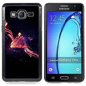 """Qstar Arte & diseño plástico duro Fundas Cover Cubre Hard Case Cover para Samsung Galaxy On5 O5 (Espacio de la galaxia Remolino"""")"""