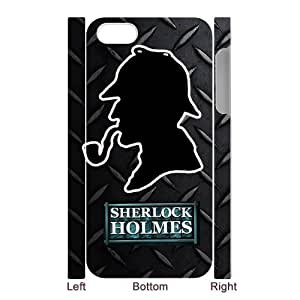 Customize Sherlock Holmes black plastic Case Fits and Protect 3D iphone 5 at Jany store123 store