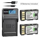 Kastar Battery (X2) & SLIM LCD Charger for JVC BN-VF808, BN-VF808U, BNVF808 and JVC Everio GZ-MG130 148 150 155 175 255 275 575 GZ-HD7 GR-D745 746 750 760 770 771 775 790 796 JVC MiniDV + More