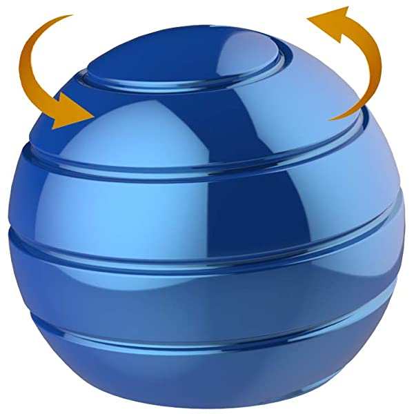 Jouet de bureau cin/étique,Kinetic Desk Toy gyro de transfert de boule de bureau soulagement du stress avec des sommets hypnotisants pour le traitement de lanxi/ét/é TDAH soulager le stress Noir