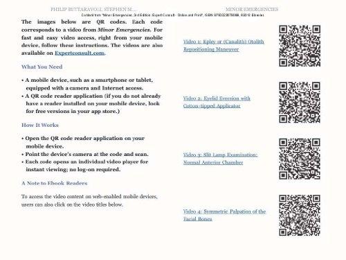 Minor Emergencies: Expert Consult - Online and Print - http://medicalbooks.filipinodoctors.org