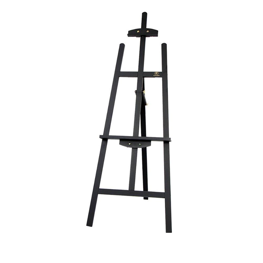高さ145cmパインウッド三脚イーゼル折りたたみオイル絵画棚アーティストスケッチ絵画スケッチパッド調整可能な広告ウェディングディスプレイスタンド : Black) (色 : Black) Black Black B07F6Y3ZW2, 西川ストアONLINE:2788a236 --- ijpba.info