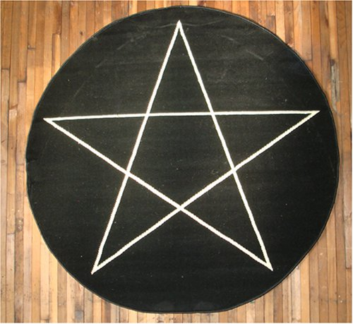 Pentagram rug large home kitchen area rugs for Large kitchen area rugs