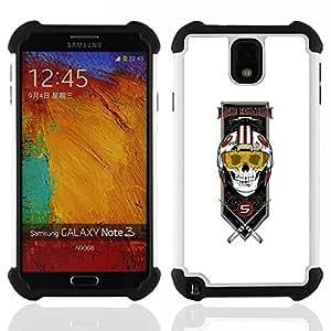 BullDog Case - FOR/Samsung Galaxy Note3 N9000 N9008V N9009 / - / Rogue Squadron Skull Pilate /- H??brido Heavy Duty caja del tel??fono protector din??mico - silicona suave