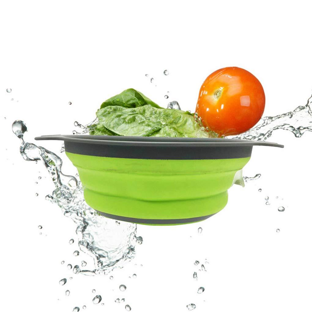 Floridivy Faltbare Wash Seiher Frucht-Gem/üse-Waschkorb K/üche zusammenklappbares Sieb