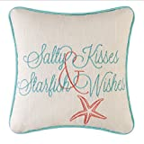 C&F Home 10'' Embroidery Pillow, Salty Kisses Starfish