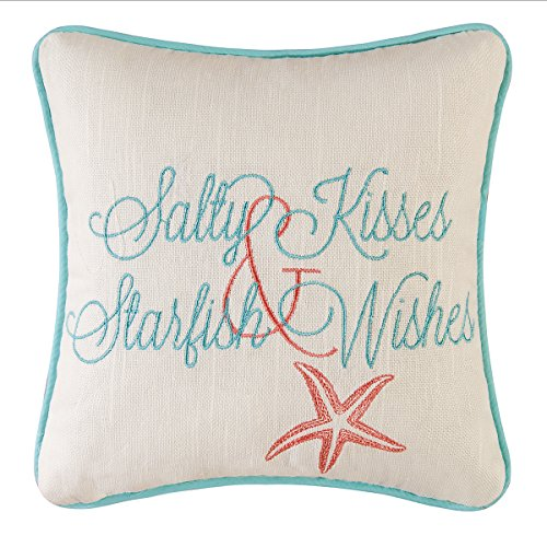 C&F Home 10 Embroidery Pillow, Salty Kisses Starfish