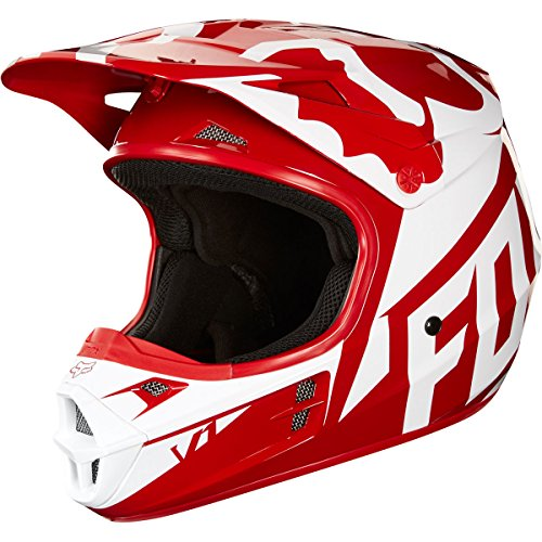Small Helmet Race (2018 Fox Racing V1 Race Helmet-Red-L)
