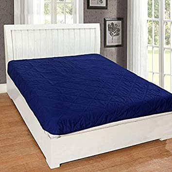 Rajasthan Crafts Microfiber Water Resistant and Dustproof King Size Mattress Protector (Blue, 78x72-inch)